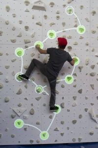 Augmented Climbing Wall – Follow the Path